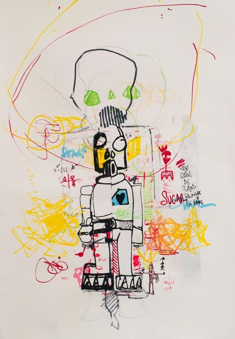 we_the_robots_2 - Peinture acrylique | Claude Billès | MRIART Gallery