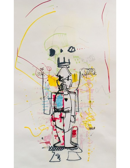 we_the_robots_3 - Peinture acrylique | Claude Billès | MRIART Gallery