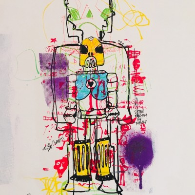 we_the_robots_5 - Peinture acrylique | Claude Billès | MRIART Gallery