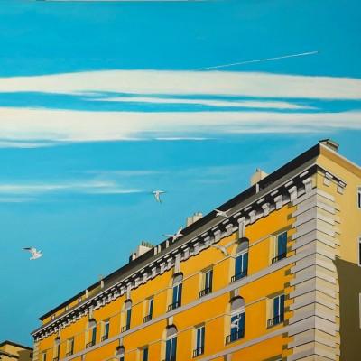 Quai Rive Neuve - Peinture Acrylique | Sylvie Rose M Nicolas | MRIART Gallery