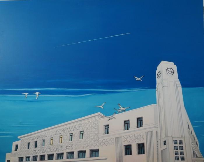 Transatlantique - Peinture Acrylique | Sylvie Rose M Nicolas | MRIART