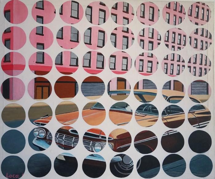 Pink Building - Peinture Acrylique | Sylvie Rose M Nicolas | MRIART Gallery