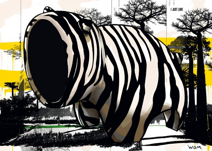 Zebre Act ! - Digigraphie | Cyril Anguelidis | MRIART Gallery