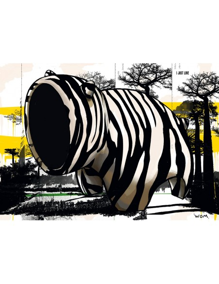 Zebre Act ! - Digigraphie   Cyril Anguelidis   MRIART Gallery