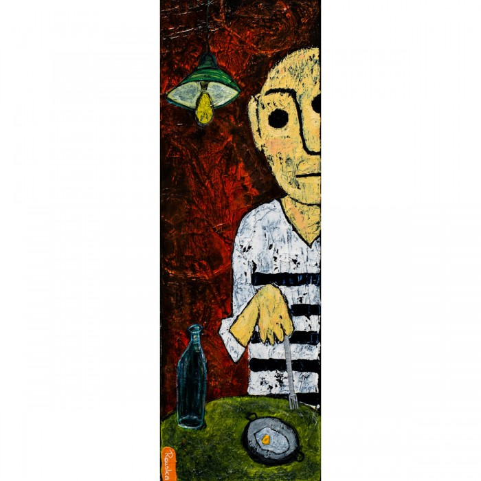 Buffet Eggs - 20 x 60 cm - Peinture Acrylique | Rouska | MRIART Gallery
