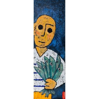 Le bouquet - Peinture Acrylique | Rouska | MRIART Gallery