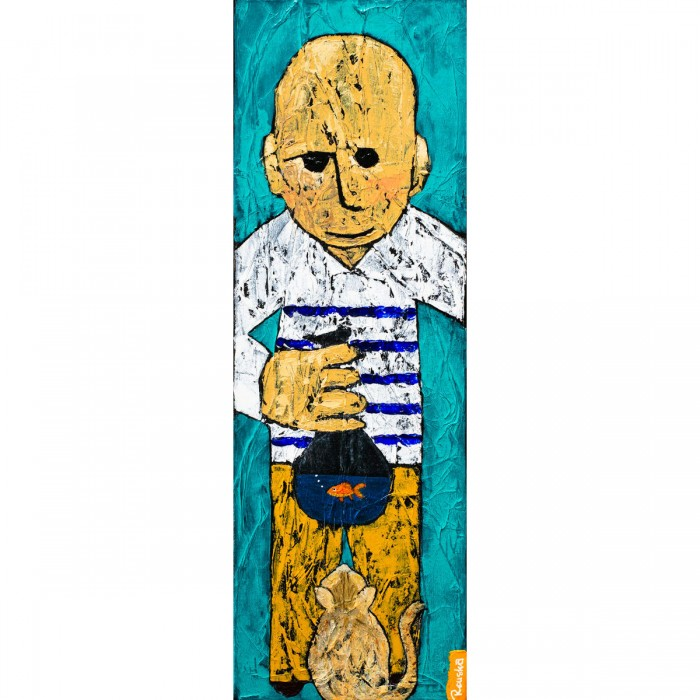 Poisson-Chat - Peinture Acrylique | Rouska | MRIART Gallery