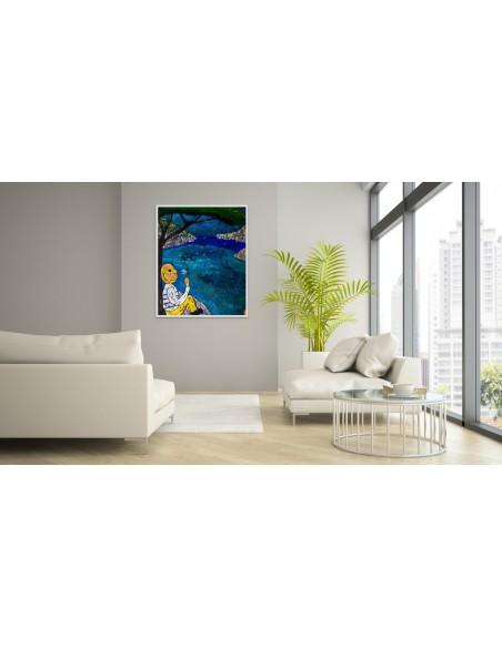 Mise en situation : Dandelion - Peinture Acrylique | Rouska | MRIART Gallery