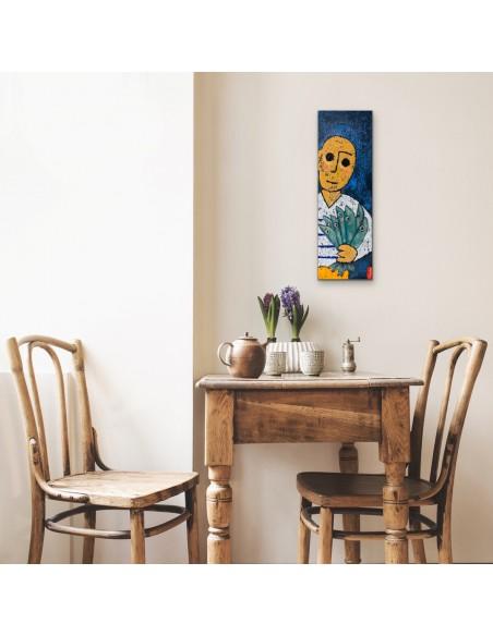 Mise en situation : Le bouquet - Peinture Acrylique | Rouska | MRIART Gallery