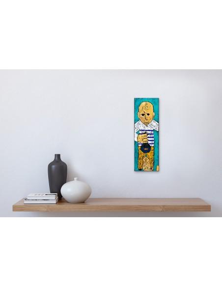 Mise en situation : Poisson-Chat - Peinture Acrylique | Rouska | MRIART Gallery