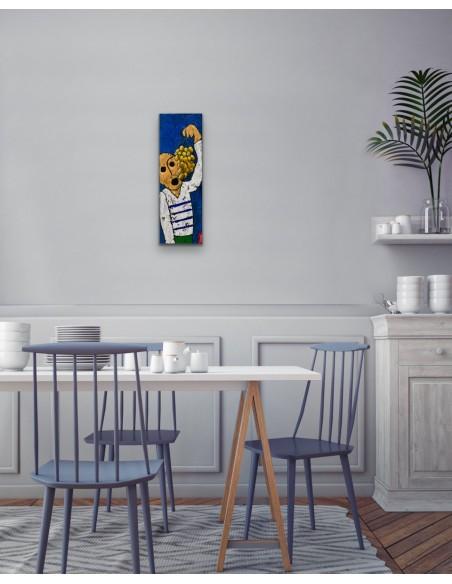 Mise en situation : Vendanges - Peinture Acrylique   Rouska   MRIART Gallery
