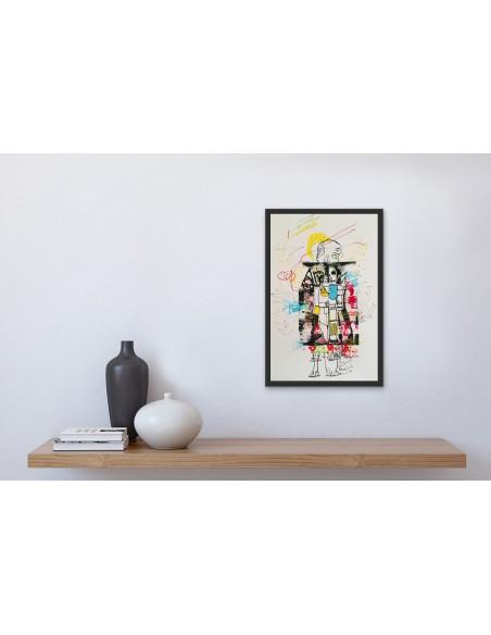 Mise en situation : we_the_robots_4 - Peinture acrylique | Claude Billès | MRIART Gallery