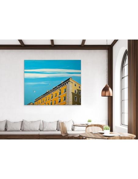 Mise en situation : Quai Rive Neuve - Peinture Acrylique | Sylvie Rose M Nicolas | MRIART Gallery