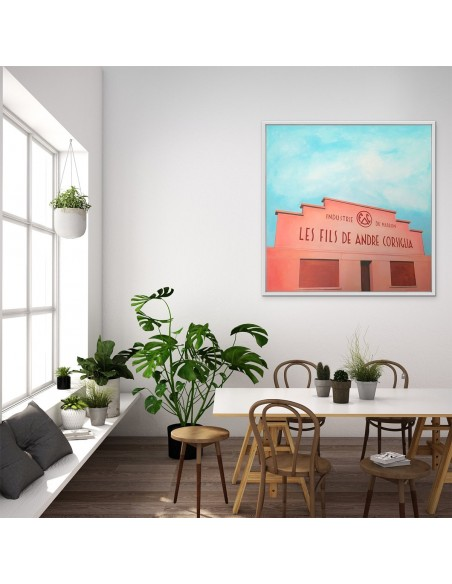 Mise en situation : Corsiglia - Peinture Acrylique   Sylvie Rose M Nicolas   MRIART Gallery