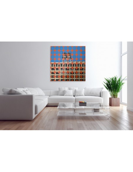 Mise en situation : Area Code 1 - Peinture Acrylique | Sylvie Rose M Nicolas | MRIART Gallery