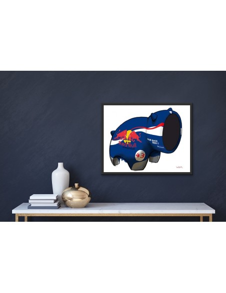 Mise en situation : Red Bull - Digigraphie | Cyril Anguelidis | MRIART Gallery