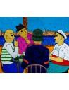 La Partie de Cartes - Peinture Acrylique | Rouska | MRIART Gallery